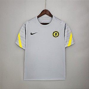 Camisa Chelsea (treino - cinza) 2021-22