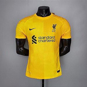 Camisa Liverpool 2021-22 (Away-Uniforme 2) - Goleiro - Modelo Jogador