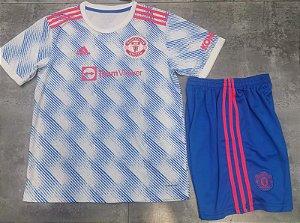Conjunto Infantil (Camisa + Shorts) Manchester United 2021-2022 (Away-Uniforme 2)