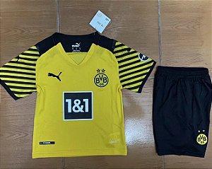 Conjunto Infantil (Camisa + Shorts) Borussia Dortmund 2021-22 (Home-Uniforme 1)