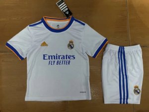 Conjunto Infantil (Camisa + Shorts) Real Madrid 2021-22 (Home-Uniforme 1)