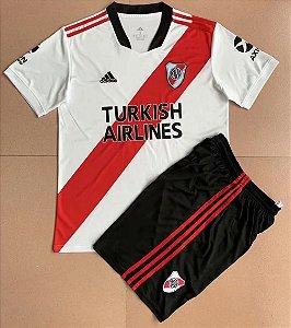 Conjunto Infantil (Camisa + Shorts) River Plate 2021-22 (Home-Uniforme 1)