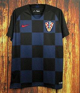 Camisa Croácia Copa do Mundo 2018 (Away-Uniforme 2) - Modelo Torcedor