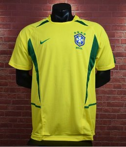 Camisa Brasil Copa do Mundo 2002  (Home-Uniforme 1)