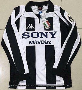 Camisa Juventus 1997-1998 (Home-Uniforme 1) - Manga Longa