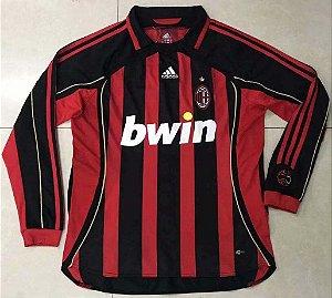 Camisa Milan 2006-2007 (Home-Uniforme 1) - Manga Longa