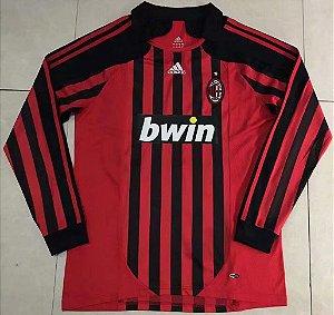 Camisa Milan 2007-2008 (Home-Uniforme 1) - Manga Longa