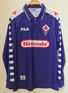 Camisa Fiorentina 1998-1999 (Home-Uniforme 1) - Manga Longa