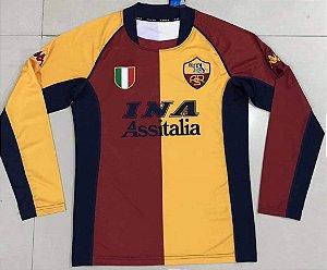 Camisa Roma 2001-2002 (Home-Uniforme 1) - Manga Longa