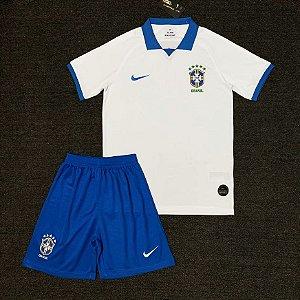 Conjunto Infantil (Camisa + Shorts) Brasil 2019 (Away-Uniforme 2)