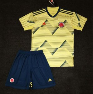 Conjunto Infantil (Camisa + Shorts) Colômbia 2019 (Home-Uniforme 1)