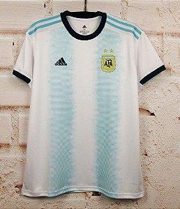 Camisa Argentina 2019-20 (Home-Uniforme 1) - Modelo Torcedor