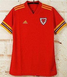 Camisa País de Gales 2020-21 (Home-Uniforme 1) - Modelo Torcedor