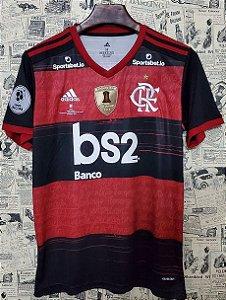 """Camisa Flamengo """"Recopa 2020"""" (Uniforme 1) - Modelo Torcedor (com todos patrocínios)"""