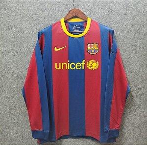 Camisa Barcelona 2010-11 (Home-Uniforme 1) - Manga Longa