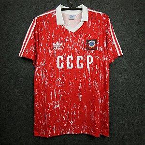 """Camisa União Soviética """"USSR"""" 1990 (Home-Uniforme 1)"""