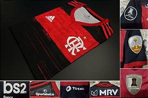 """Camisa Flamengo """"Libertadores 2020"""" (Uniforme 1) - Modelo Jogador (com todos patrocínios)"""