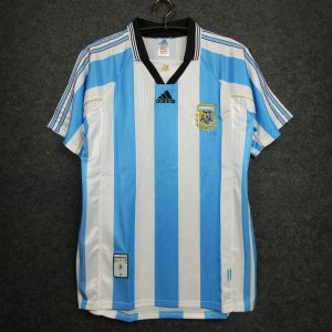 Camisa Argentina 1998 Copa do Mundo  (Home-Uniforme 1)
