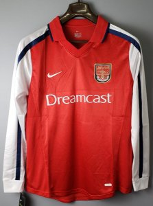 Camisa Arsenal 2000-2001 (Home-Uniforme 1) - Manga Longa