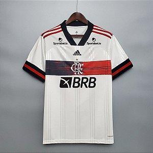 Camisa Flamengo 2020-21 (Uniforme 2) - Modelo Torcedor (com patrocínios)
