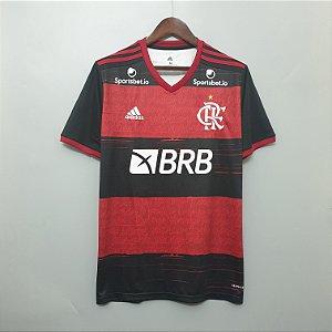 Camisa Flamengo 2020-21 (Uniforme 1) - Modelo Torcedor (com patrocínios)
