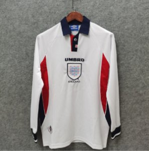 Camisa Inglaterra 1998 (Home-Uniforme 1) - Copa do Mundo (manga longa)