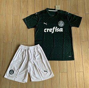 Conjunto Infantil (Camisa + Shorts) Palmeiras 2020-21 (Home-Uniforme 1)
