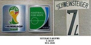 Alemanha Home 2014: patches, match date, fontes (nome, número)