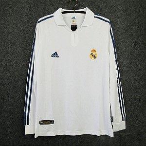 Camisa Real Madrid 2001-2002 (Home-Uniforme 1) - Manga Longa