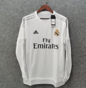 Camisa Real Madrid 2015-2016 (Home-Uniforme 1) - Manga Longa