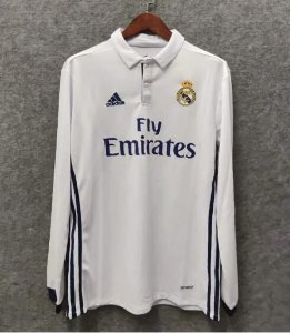 Camisa Real Madrid 2016-2017 (Home-Uniforme 1) - Manga Longa