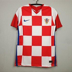 Camisa Croácia 2020-21 (Home-Uniforme 1) - Modelo Torcedor