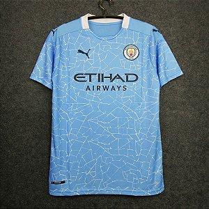 Camisa Manchester City 2020-21 (Home-Uniforme 1) - Modelo Torcedor