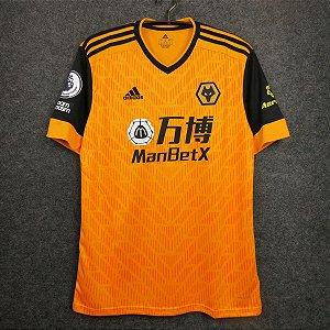 "Camisa Wolverhampton ""Wolves"" 2020-21 (Home-Uniforme 1) - Modelo Torcedor"