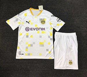 Conjunto Infantil (Camisa + Shorts) Borussia Dortmund 2020-2021 (Third-Uniforme 3)