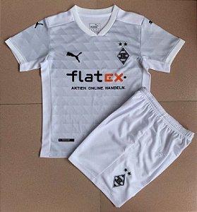 Conjunto Infantil (Camisa + Shorts) Borussia Monchengladbach 2020-2021 (Home-Uniforme 1)