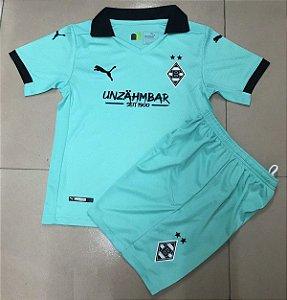 Conjunto Infantil (Camisa + Shorts) Borussia Monchengladbach 2020-2021 (Third-Uniforme 3)
