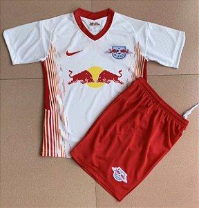Conjunto Infantil (Camisa + Shorts) RB Leipzig 2020-2021 (Home-Uniforme 1)