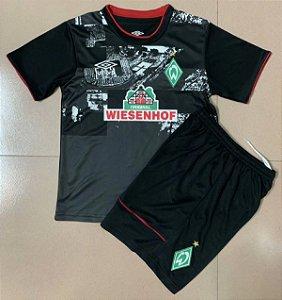 Conjunto Infantil (Camisa + Shorts) Werder Bremen 2020-2021 (Third-Uniforme 3)