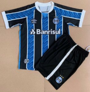 Conjunto Infantil (Camisa + Shorts) Grêmio 2020-2021 (Home-Uniforme 1)