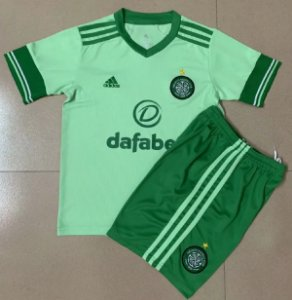 Conjunto Infantil (Camisa + Shorts) Celtic 2020-21 (Away-Uniforme 2)
