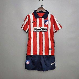 Conjunto Infantil (Camisa + Shorts) Atlético de Madrid 2020-21 (Home-Uniforme 1)