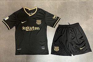Conjunto Infantil (Camisa + Shorts) Barcelona 2020-21 (Away-Uniforme 2)