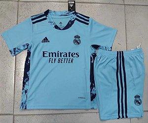 Conjunto Infantil (Camisa + Shorts) Real Madrid 2020-2021 (goleiro)