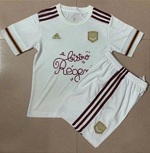 Conjunto Infantil (Camisa + Shorts) Bordeaux 2020-2021 (Away-Uniforme 2)