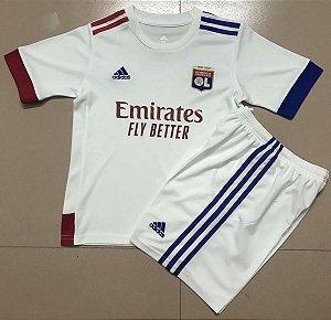 Conjunto Infantil (Camisa + Shorts) Lyon 2020-2021 (Home-Uniforme 1)