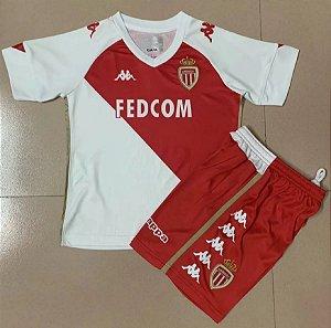 Conjunto Infantil (Camisa + Shorts) Monaco 2020-2021 (Home-Uniforme 1)