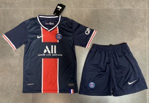 "Conjunto Infantil (Camisa + Shorts) Paris Saint Germain ""PSG"" 2020-2021 (Home-Uniforme 1)"