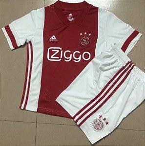 Conjunto Infantil (Camisa + Shorts) Ajax 2020-2021 (Home-Uniforme 1)