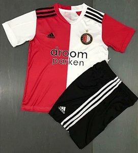 Conjunto Infantil (Camisa + Shorts) Feyenoord 2020-2021 (Home-Uniforme 1)